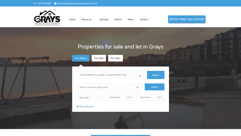 Grays Property Management Website